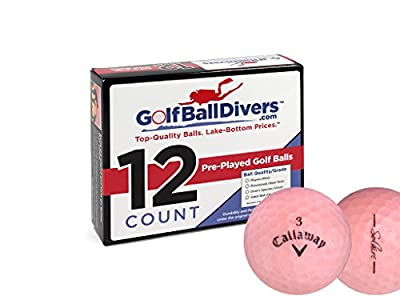 Callaway 12 Solaire Pink - Value (AAA) Grade - Recycled (Used) Golf Balls