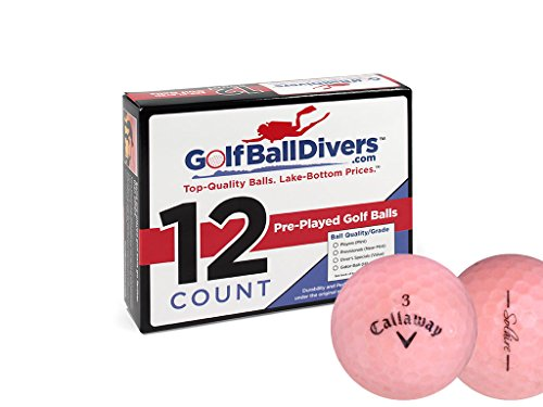 Callaway 12 Solaire Pink - Value (AAA) Grade - Recycled (Used) Golf Balls (Callaway Solaire Golf Balls)