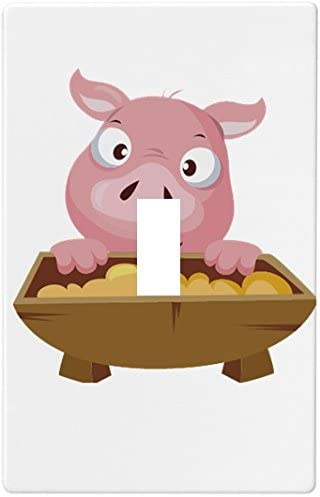 Pig With Trough Wallplate Decorative Switch Plate Cover 1 Gang Single Toggle Amazon Com