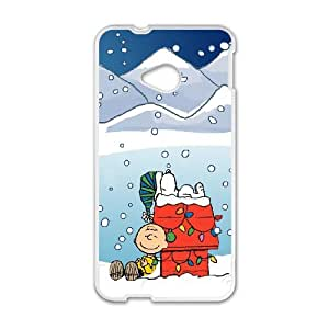 HTC One M7 Phone Case for Charlie Brown Christmas pattern design