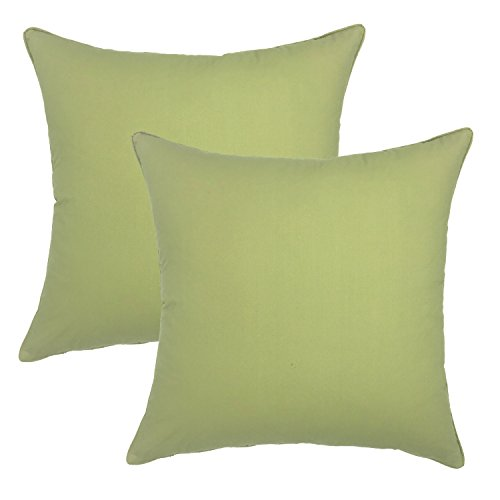 your-smile-100-cotton-decorative-throw-pillow-case-18x18inch-solid-color-2-pack-sage-