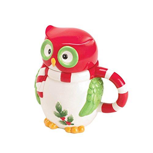 Home Locomotion Holiday Hoot Mug With Lid