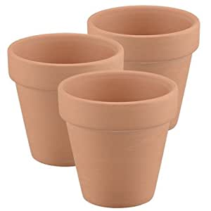 6 qty mini terra cotta flower pots 2 5 8 for Small clay flower pots