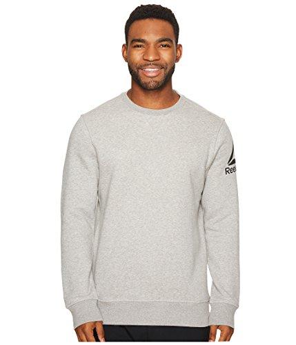 Reebok Cotton Blend Long Sleeve Crewneck, Large, Grey H (Long Reebok Sleeve)
