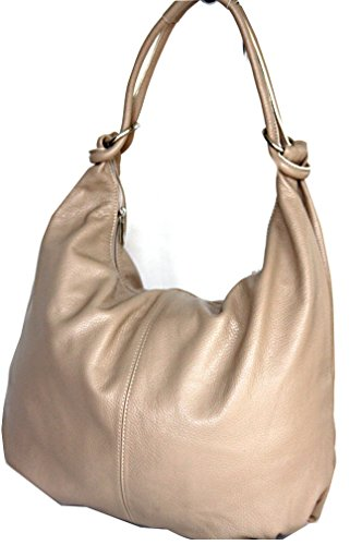 fashion-formel, Sacchetto a canestro / Satchel donna Beige (taupe claire)