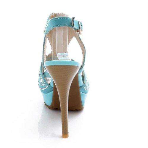 Brand New Fashion Rhinestone Womens Platform High Heels Peep Toe Sandals Shoes Blue az8f1