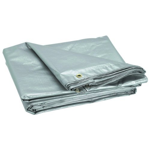 8 ft. 6 in. x 11 ft. 4 in. Silver/Heavy Duty Reflective All Purpose/Weather Resistant Tarp by USA Tools N More