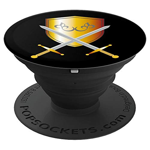 Cute Unique Medieval Halloween Knight Armor Shirt Gift Sword PopSockets Grip and Stand for Phones and Tablets]()