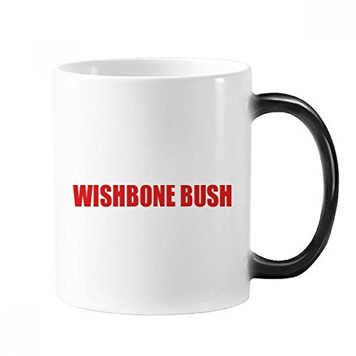 Wishbone Bush Flower Red Plant Mug Changing Color Cup Morphing Heat Sensitive (Wishbone Bushes)