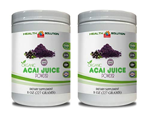 antioxidant Complex Dietary Supplement – Organic ACAI Juice Powder – acai Organic Juice – 2 Cans 16 OZ (130 Servings)