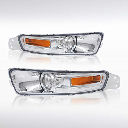 Autozensation For Ford Mustang GT Clear Lens Front Bumper Signal Lights Lamps Left+Right
