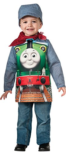 Deluxe Thomas And Engineer Costumes (Rubies Thomas and Friends: Deluxe Percy The Small Engine and Engineer Costume, Toddler)