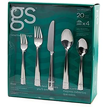 Gourmet Settings GS River Fabulous Fine Flatware 20 Pieces Set