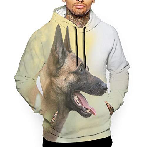 (Men Funny Cute Pet German Shepherd Dog Classic Rock Long Sleeves Full Size Tshirt Gift S)