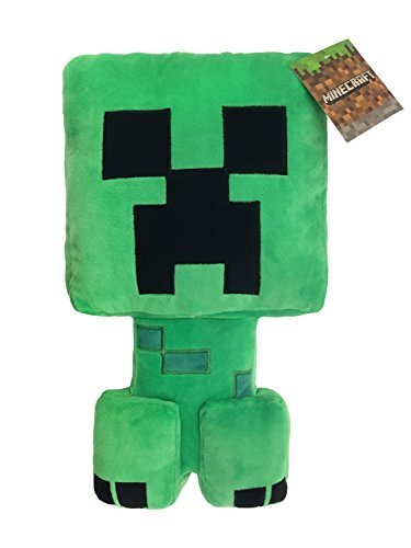 Jay Franco Minecraft Plush Stuffed Creeper Pillow Buddy - Super Soft Polyester Microfiber, Measures 16 inches x 8 inches (Official Minecraft -