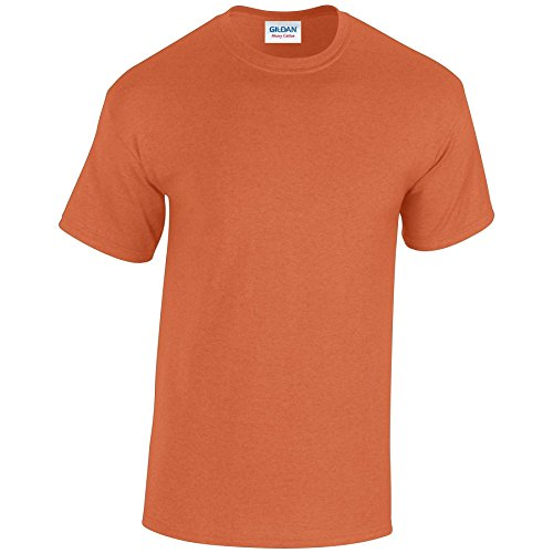 Gildan Heavy Camiseta de algodón para adultos naranja