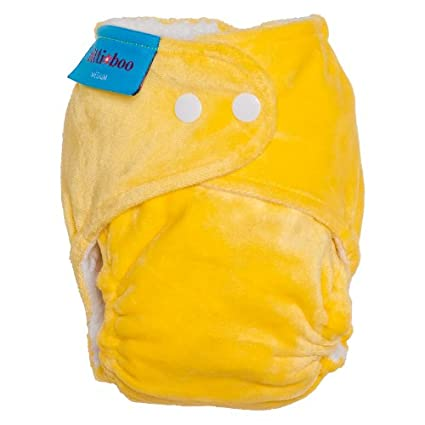 Itti Bitti Bitti Boo Fitted - Pañal lavable (talla L), color amarillo