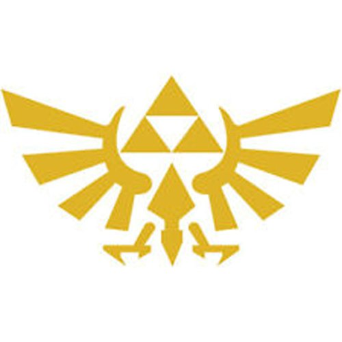 Zelda Costumes Hyrule Warriors (Legend of Zelda Tri-Force GOLD Vinyl Decal Sticker|Cars Trucks Walls Laptop|GOLD|6 In|KCD361)