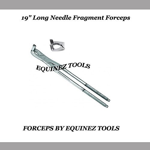19  Equine Long Needle Fragment Forceps with Pouch, Stainles Steel,Equine Dental