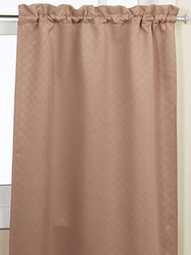 Lorraine Home Fashions Facets Room Darkening Blackout Tier Curtain Pair 55 By 36 Inch Taupe