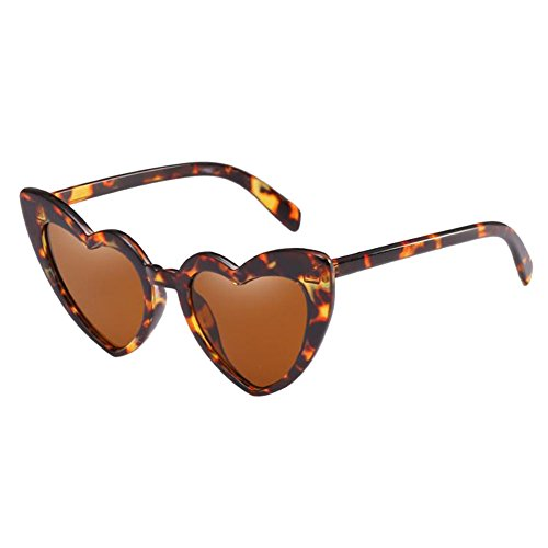 Gafas Salirse sol Retro Ojo Polarizado ojos Proteccion gato Estilo los Gafas de Conformado corazon Hzjundasi UV de Leonado Eyewear Estiloso Clásico Amor w74nxqz