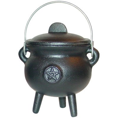 (New Age Cast Iron Cauldron 3-inch Pentacle (each) )