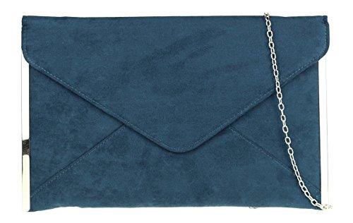 Girly Handbags - Cartera de mano de Material Sintético para mujer verde azulado