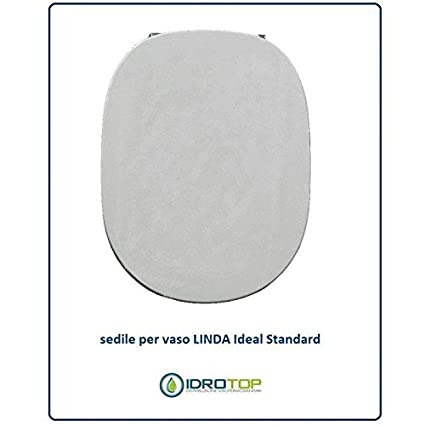 Sedile Wc Ideal Standard Linda.Ideal Standard Linda Toilet Seat White With Chrome Hinges Bianco