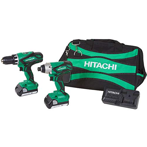 Hitachi KC18DGL 18V Cordless Lithium-Ion Driver/Drill And Impact Driver Combo Kit