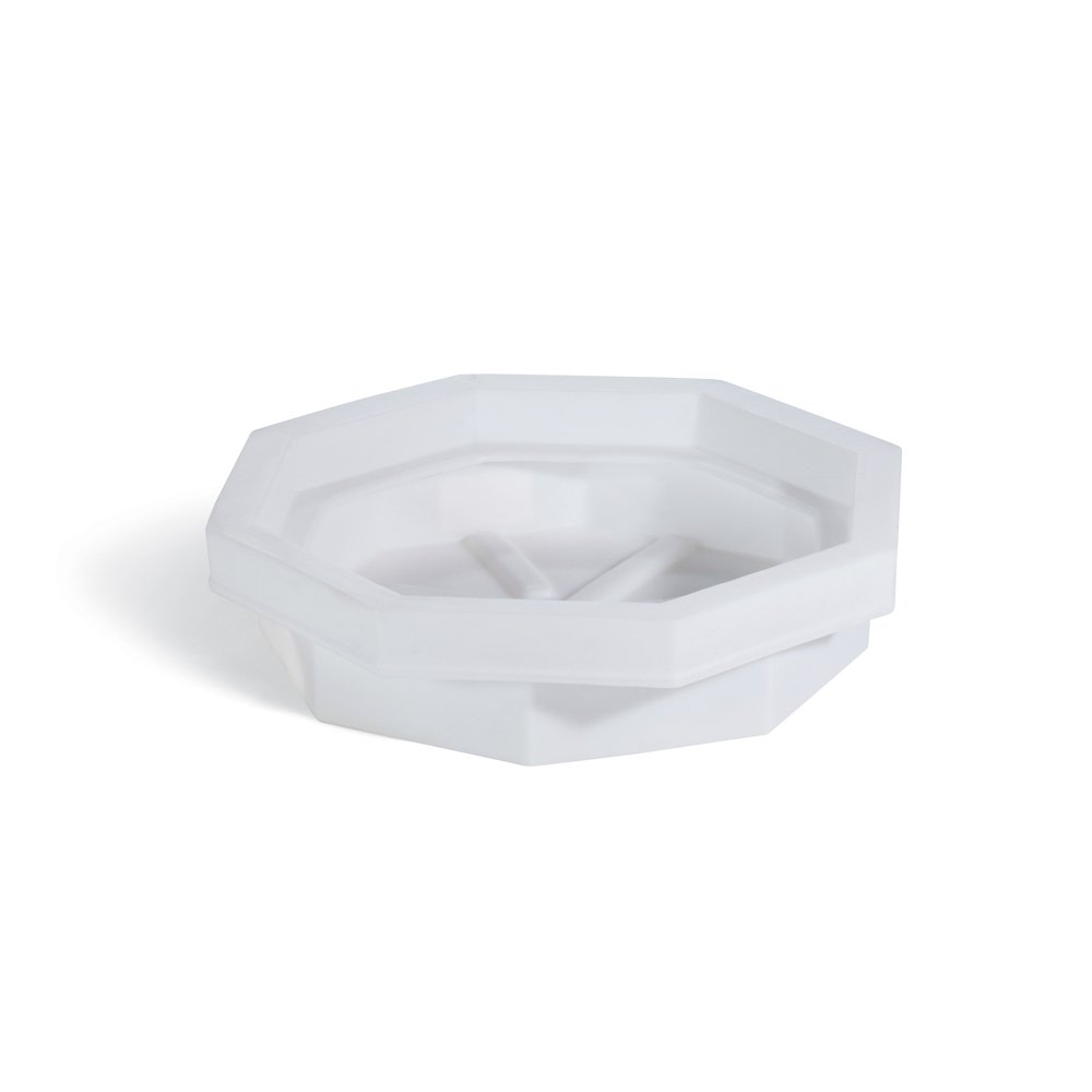 New Pig Drum Spill Tray, 22-Gal Sump Capacity, Plastic, 32'' L x 32'' W x 8'' H, White, DRM369