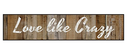 Love Like Crazy 5 x 24 Overlay Wood Design Wall Art Sign Plaque