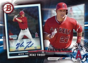 Amazoncom 2017 Topps Then Now Bowman 1 Mike Trout