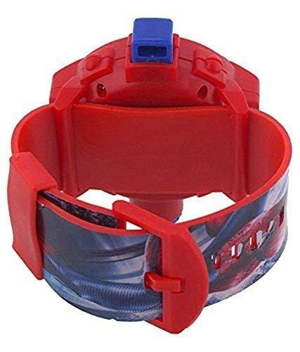 Kinder Armaturenbrett // Schreibtisch-Tischuhr mit Stoppuhr und flexiblem Standfu/ß Packung mit 2 Spiderman-Projektor-Armb/ändern f/ür Kinder Pappi-Haunt Kids Favorite