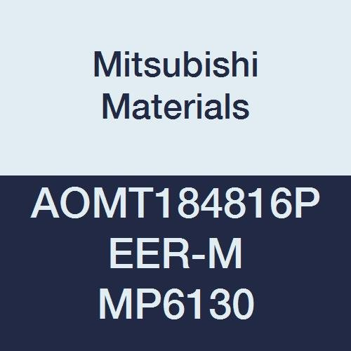 Pack of 10 0.189 Thick Mitsubishi Materials AOMT184816PEER-M MP6130 Coated Carbide Milling Insert Class E 0.063 Corner Radius Parallelogram 85/° Round Honing