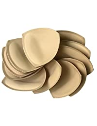 6 pairs Removeable bra pad insert for sport bra and bikini tops (Beige)