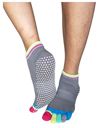 Deluxe Non Skid Anti Slip Yoga Barre Pilates Socks With Grips For Men Women