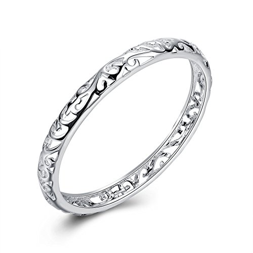 925 Sterling Silver Hollow Cuff bracelets for Women (3)