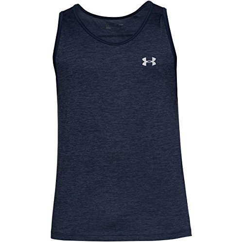 Under Armour Men's Tech Tank Top, Academy (413)/Graphite, Large (Mens Tank Tops Nike)