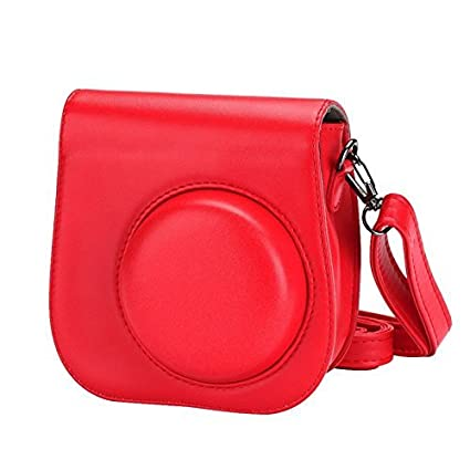 2e0c6eb1bd9c Image Unavailable. Image not available for. Color  Camera Case Artificial  Leather Single Shoulder Bag Cover for Fuji Fujifilm Instax Mini 8 - Red