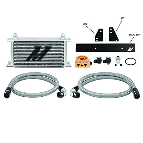Mishimoto MMOC-370Z-09T Nissan 370Z 2009+/Infiniti G37 2008+ Oil Cooler Kit, Silver Thermostatic