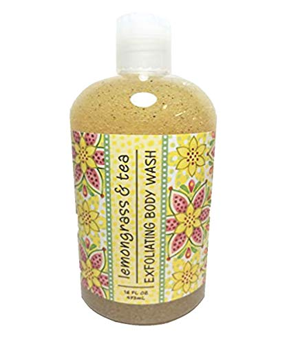 Apricot Blended Tea - Greenwich Bay Exfoliating Body Wash, Enriched with Shea Butter, Blended with Loofah and Apricot Seed 16 oz (Lemongrass & Tea)