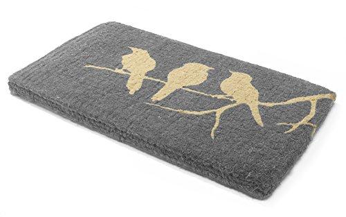 Handwoven, Extra Thick Doormat |  Entryway Door mat For Patio, Front Door | Decorative All-Season | Birds on Branch | 24'' x 36'' x 1.60'' by Fab Habitat