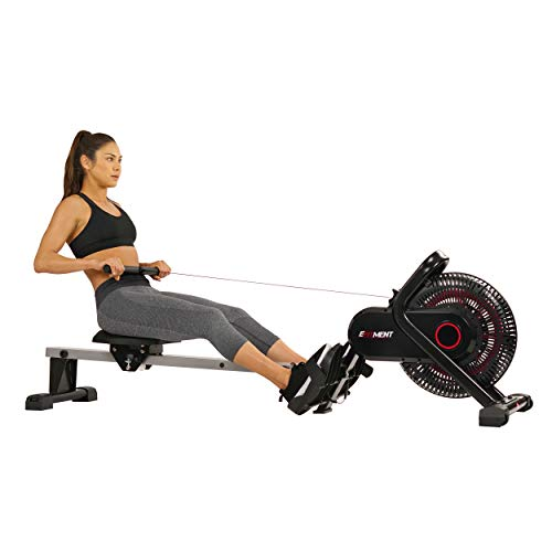 EFITMENT Aero Air Fan Rowing Machine Rower w/Monitor - RW036