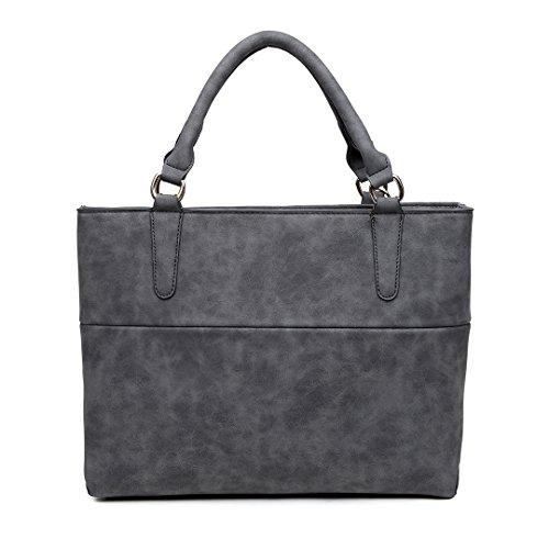 Fluffy Casual Stylish Lulu Handle Black With 1768 Ball Handbag Nubuck Pendant Miss Leather Compartment Top Bag Imitation Furry xnCgn7Hw