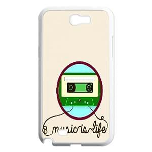Samsung Galaxy Note 2 Case Cassette 2, Samsung Galaxy Note2 Case For Women - [White] Vinceryshop