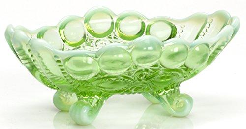 Jam / Nut Dish - Eyewinker - Green Opalescent - Mosser USA