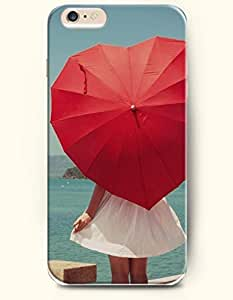 OOFIT Apple iPhone 6 Case 4.7 Inches - Young Girl and Love shaped Umbrella by ruishername