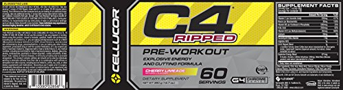 Cellucor C4 Ripped PreWorkout Cherry Limeade 60 Servings