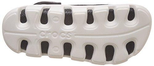 CROCS - Clogs DUET SPORT CLOG - black white, Dimensione:43-44 EU