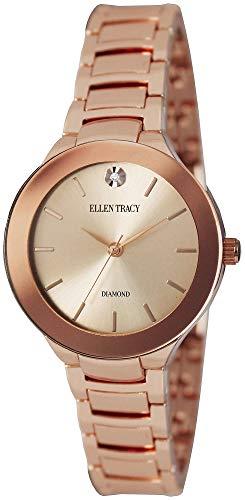 Ellen Tracy Women's Quartz Metal and Alloy Casual Watch, Color:Rose Gold-Toned (Model: ET5294RG)